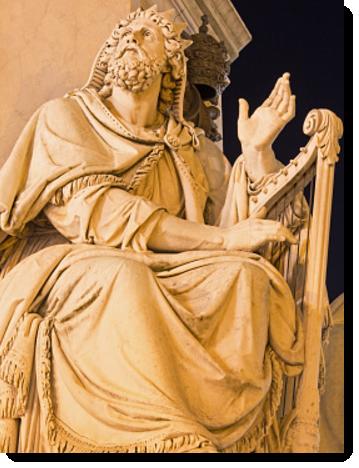 King David playing the Lyre