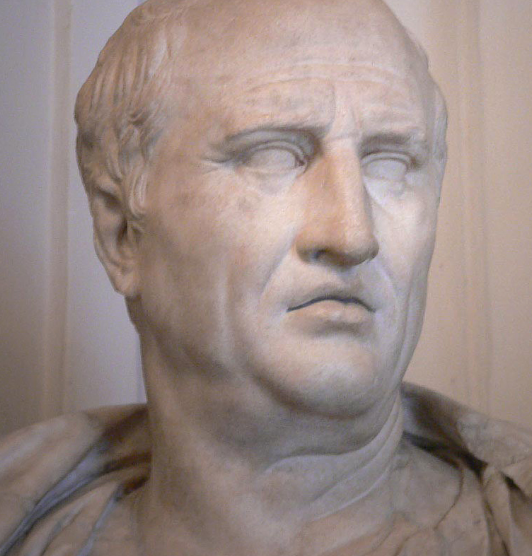 Cicero, the Latin master of our Catholic homeschool curriculum.