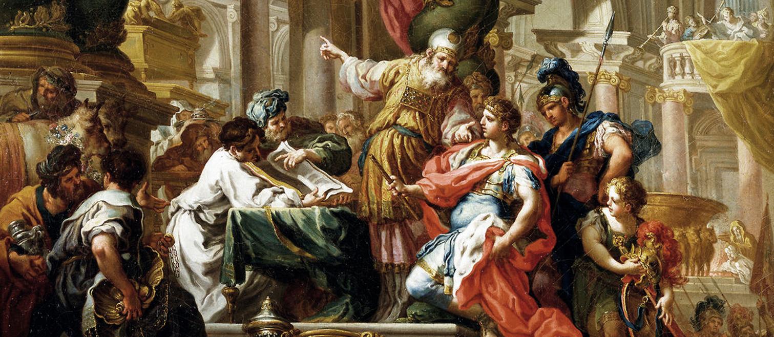 Alexander the Great visits Jerusalem