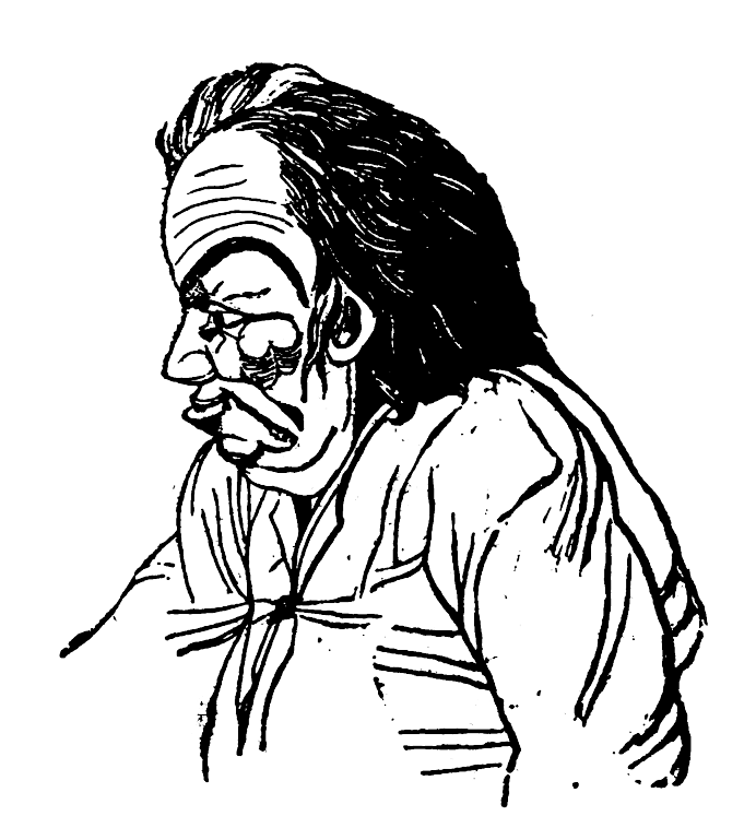 The Disagreeable man in Theophrastus' Characters.