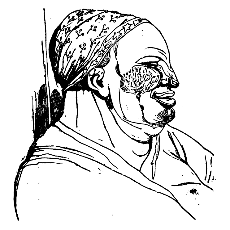 Picture of the Impure man from Theophrastus' Characters.