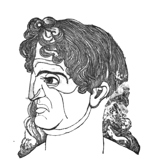 A picture of the Proud man from Theophrastus' Characters.
