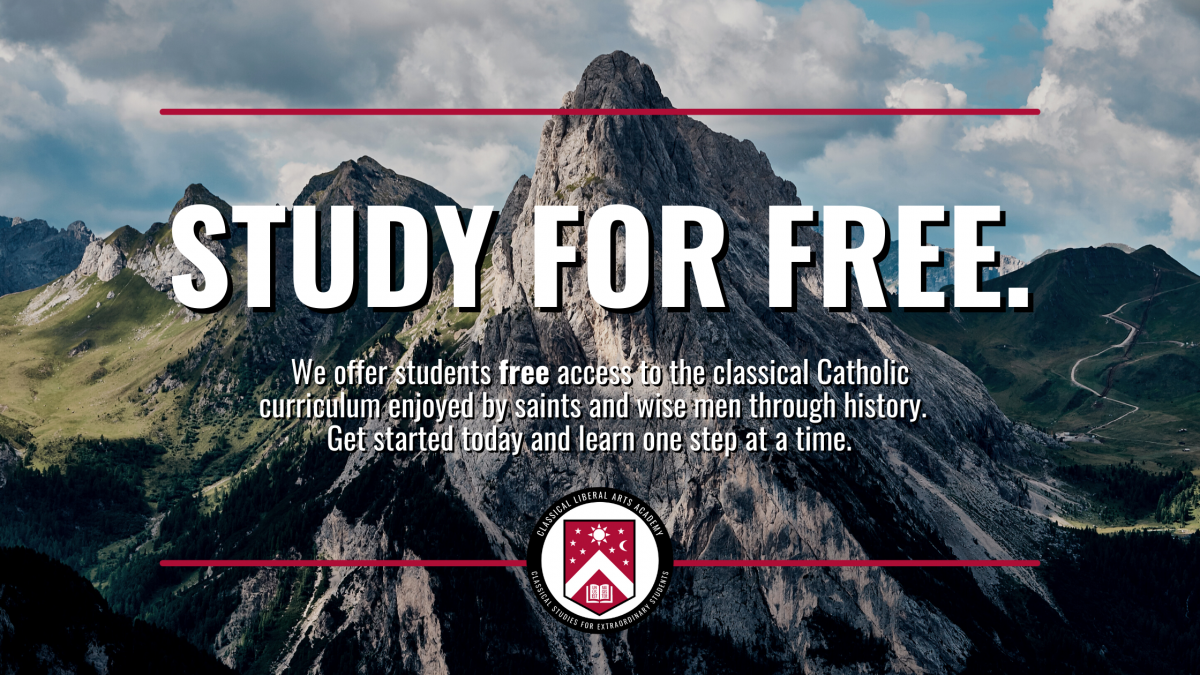 Study for free in the Classical Liberal Arts Academy