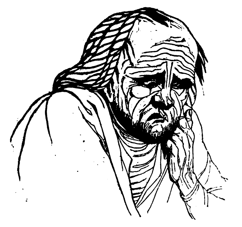 Picture of the Petulant man in Theophrastus' Characters