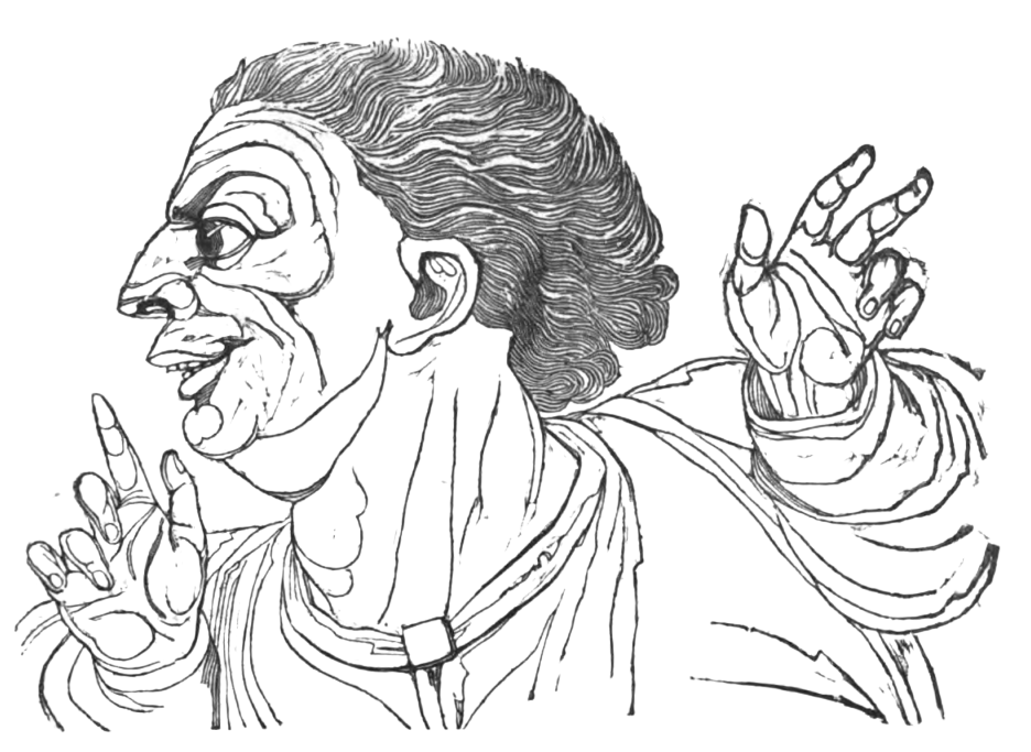 Picture of the Fabricator of News in Theophrastus' Characters
