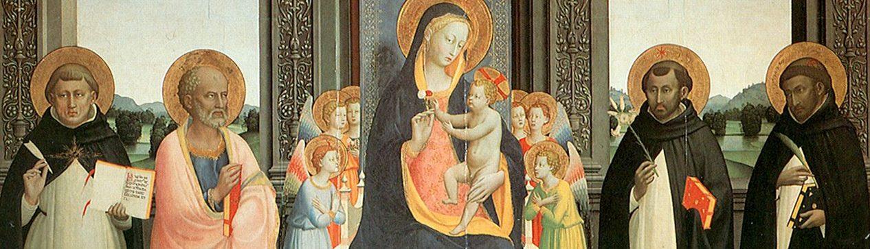 Fra Angelico, Virgin Mary, Jesus Christ, St. Dominic