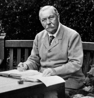 Image of Sir Arthur Conan Doyle for the Classical Liberal Arts Academy's English Composition course.